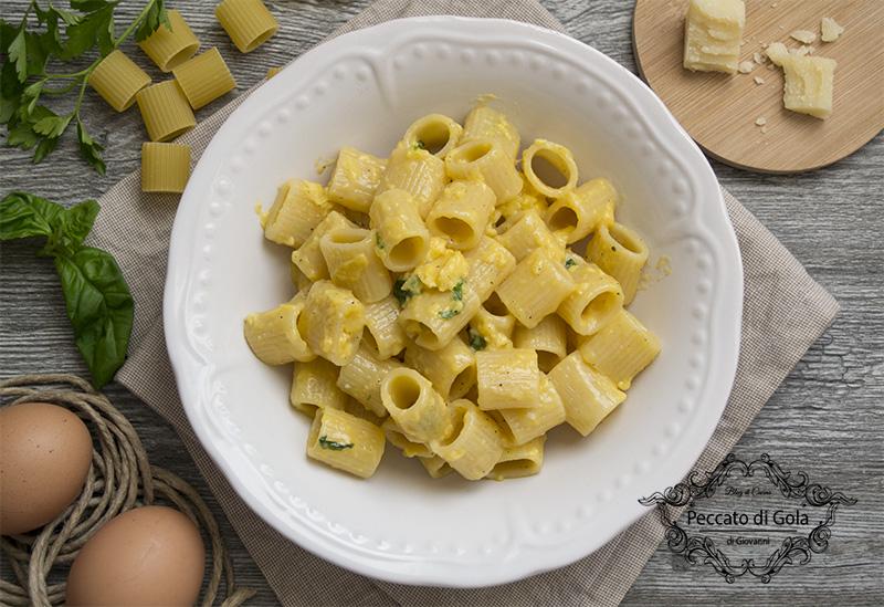 ricetta pasta cacio e uova, peccato di gola