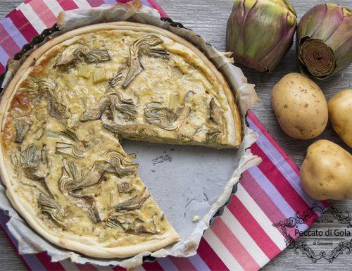 Torta salata con patate e carciofi