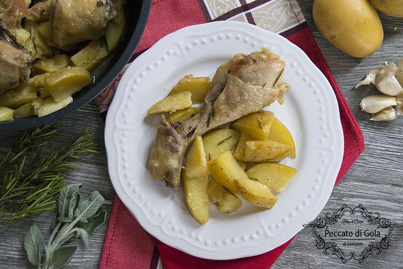 ricetta pollo e patate in padella, peccato di gola
