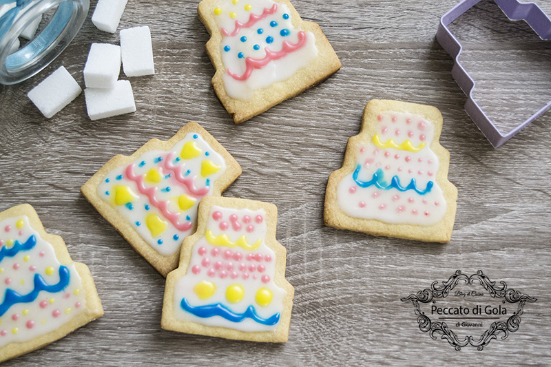 ricetta biscotti torta di compleanno, peccato di gola
