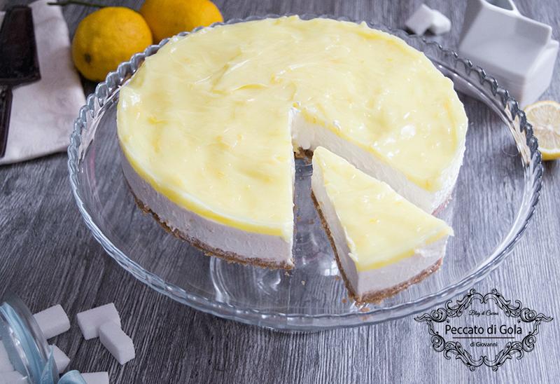 ricetta cheesecake al limone, peccato di gola
