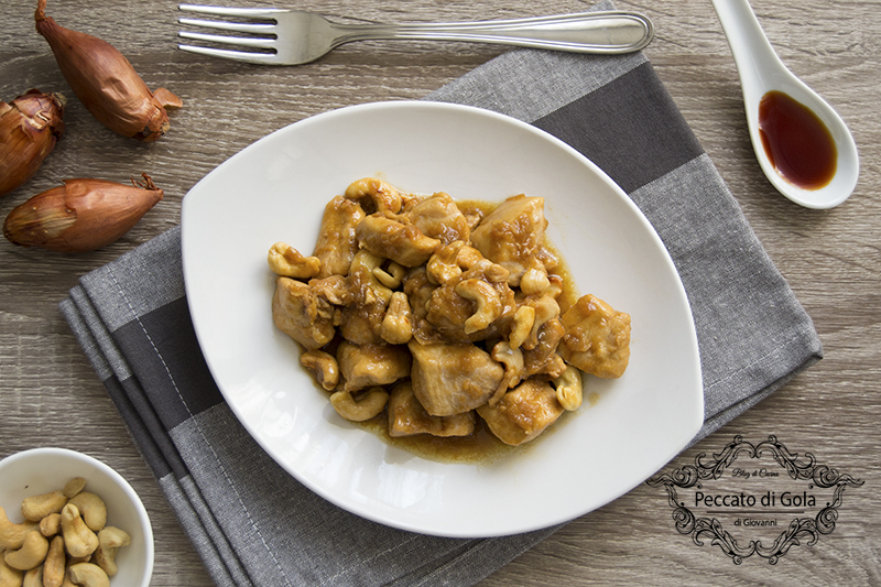 ricetta pollo con anacardi, peccato di gola di giovanni