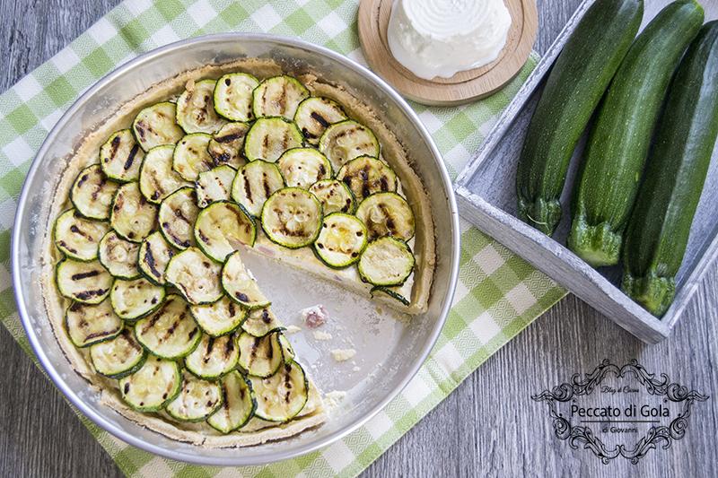 ricetta crostata salata ricotta e zucchine, peccato di gola di giovanni