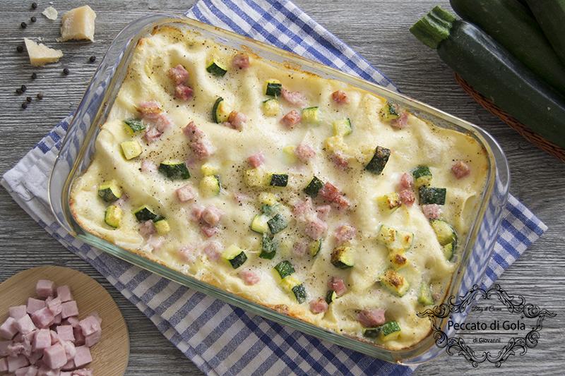 ricetta lasagne zucchine e prosciutto, peccato di gola di giovanni