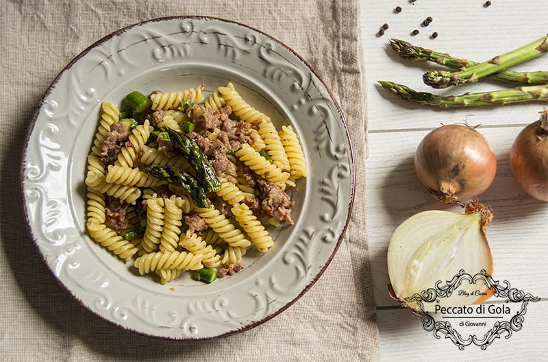 ricetta pasta asparagi e salsiccia, peccato di gola di giovanni