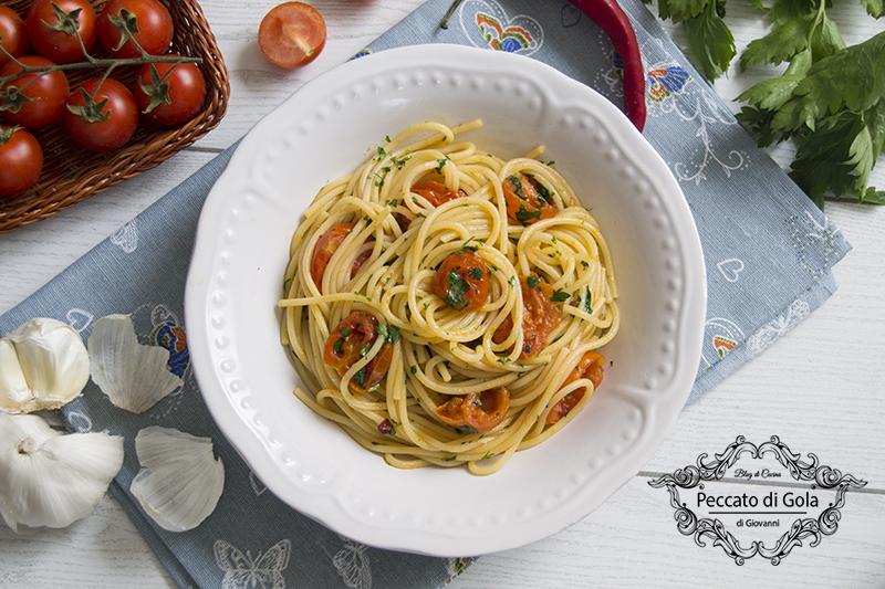 ricetta spaghetti alle vongole fujute, peccato di gola di giovanni