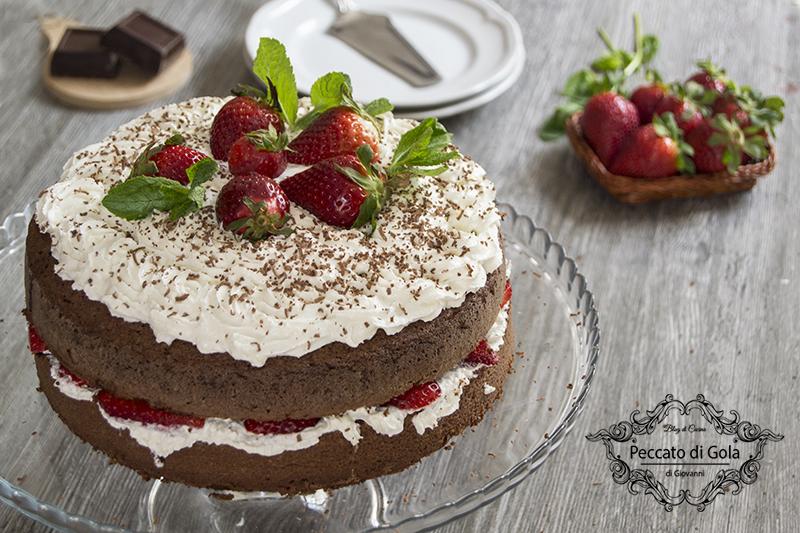 ricetta torta cioccolato e fragole, peccato di gola