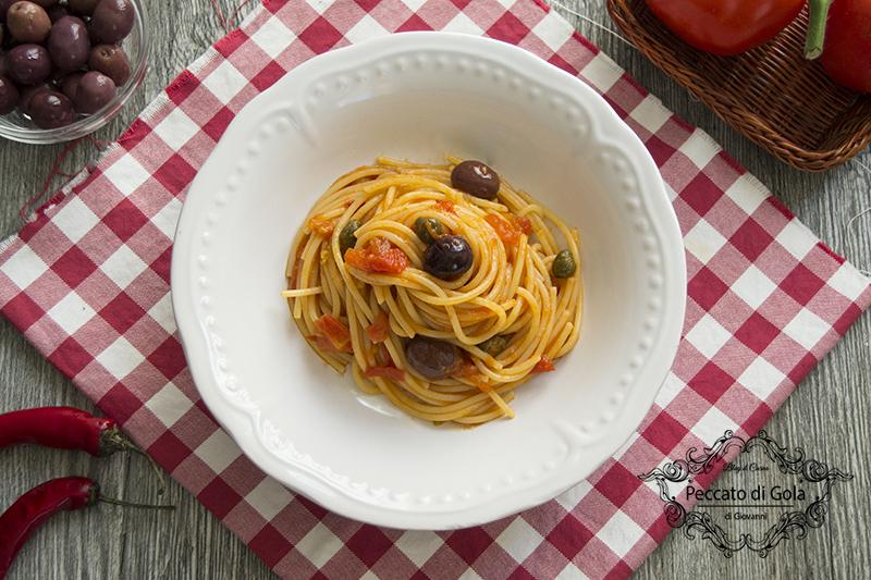 la ricetta spaghetti alla puttanesca, peccato di gola di giovanni