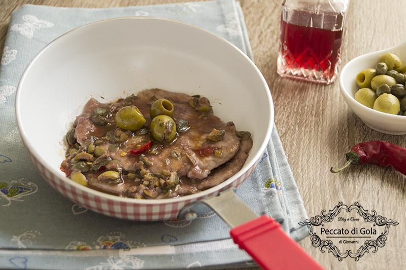 ricetta scaloppine alle olive, peccato di gola di giovanni