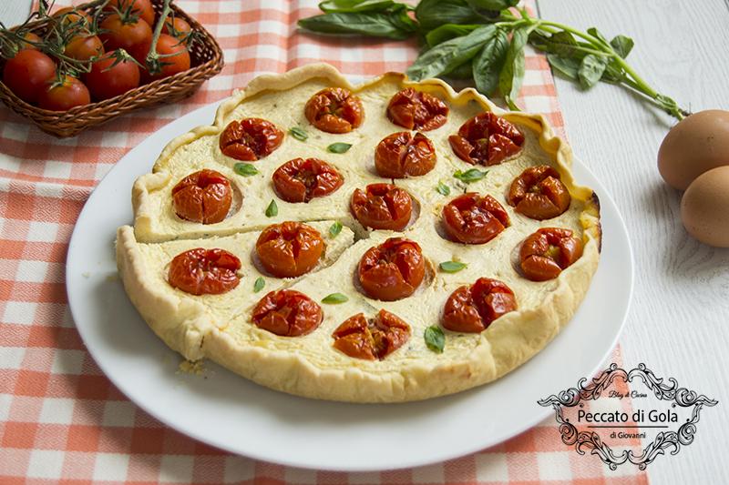 ricetta torta salata con ricotta e pomodorini, peccato di gola di giovanni