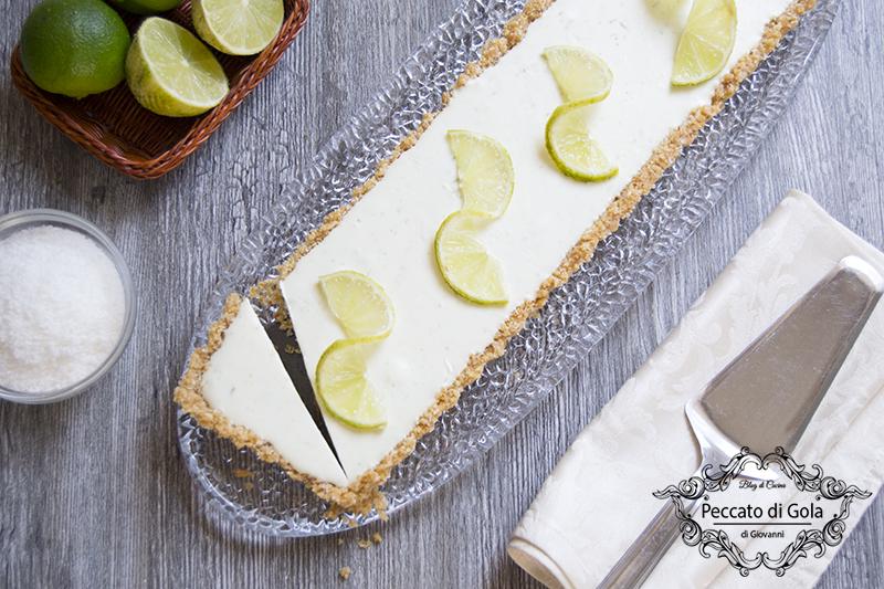 ricetta cheesecake lime e cocco, peccato di gola di giovanni