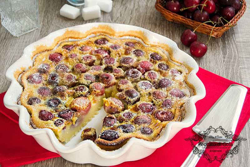 ricetta clafoutis alle ciliegie, peccato di gola di giovanni