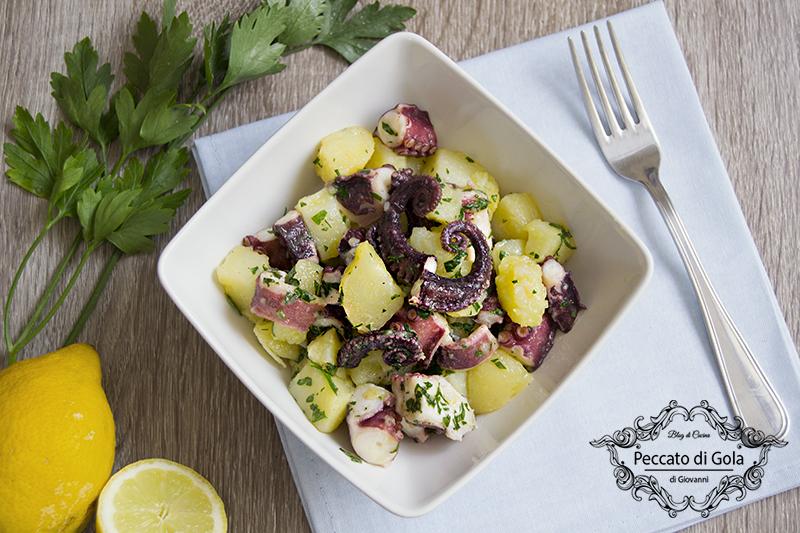 ricetta insalata di polpo e patate, peccato di gola di giovanni