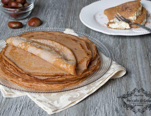 Crepes con farina di castagne senza zucchero e glutine
