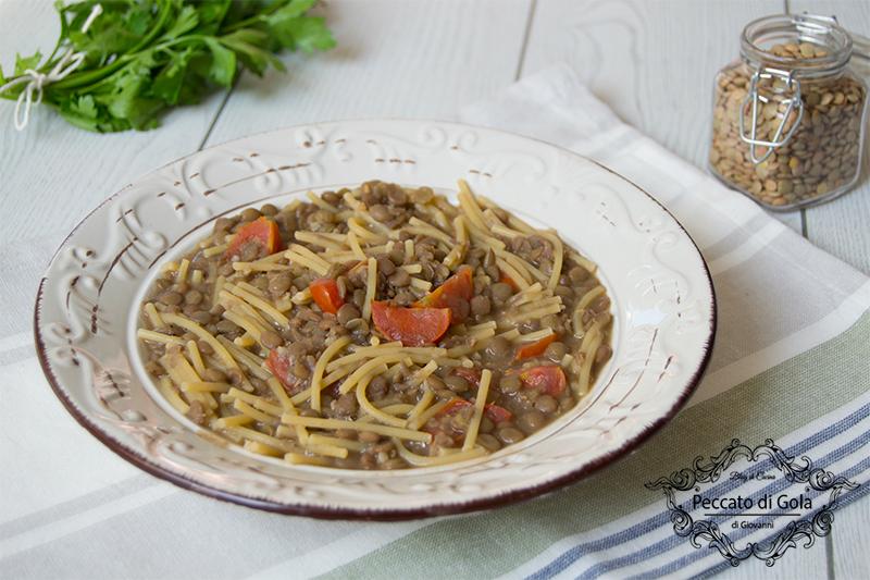 ricetta pasta e lenticchie alla napoletana, peccato di gola di giovanni