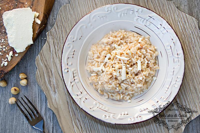 ricette risotto al castelmagno, nocciole e miele, peccato di gola di giovanni