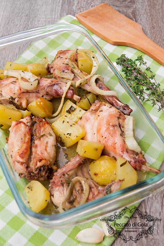 ricetta coniglio al forno con patate, peccato di gola di giovanni 2