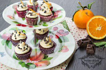 ricetta cupcake cioccolato e arancia, peccato di gola di giovanni
