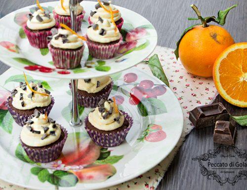 Cupcake cioccolato e arancia