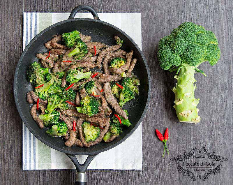 ricetta straccetti di manzo coi broccoli, peccato di gola di giovanni
