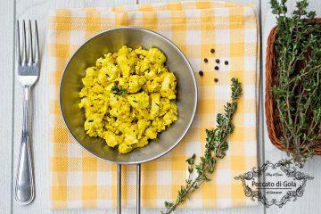 ricetta uova strapazzate vegan, peccato di gola di giovanni