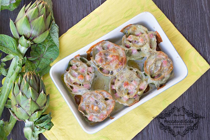 ricetta carciofi ripieni di prosciutto e formaggio, peccato di gola di giovanni