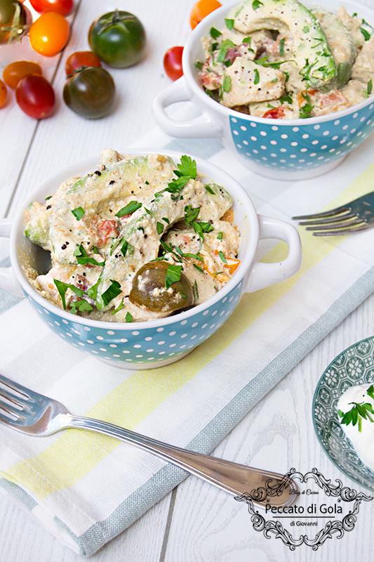 ricetta insalata di pollo e avocado, peccato di gola di giovanni 2