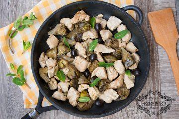 ricetta pollo e carciofi in padella, peccato di gola di giovanni