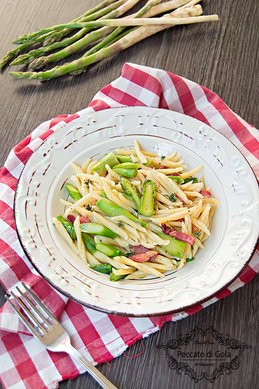 ricetta trofie asparagi e speck, peccato di gola di giovanni 2