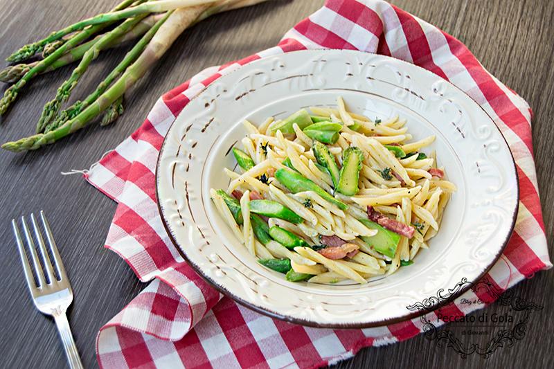 ricetta trofie asparagi e speck, peccato di gola di giovanni