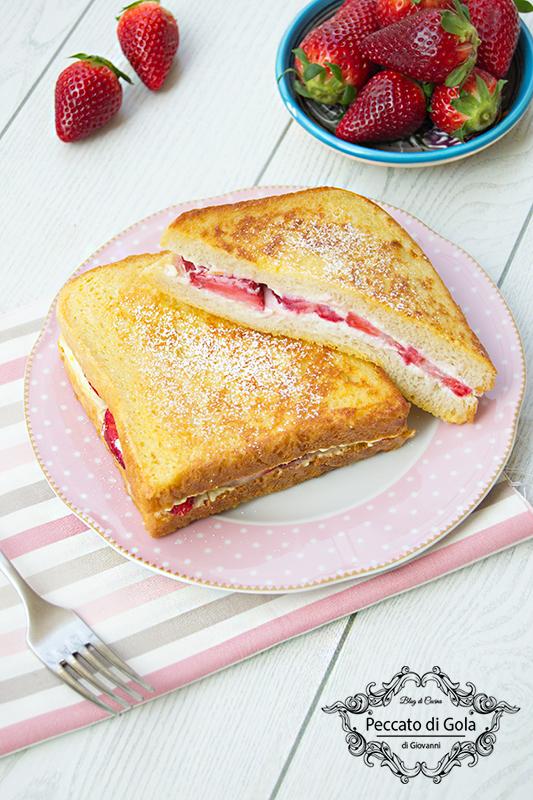 ricetta french toast ricotta e fragole, peccato di gola di giovanni 2