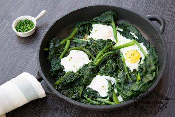 ricetta uova e spinaci in padella, peccato di gola di giovanni