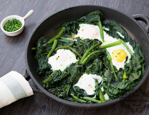 Uova e spinaci in padella