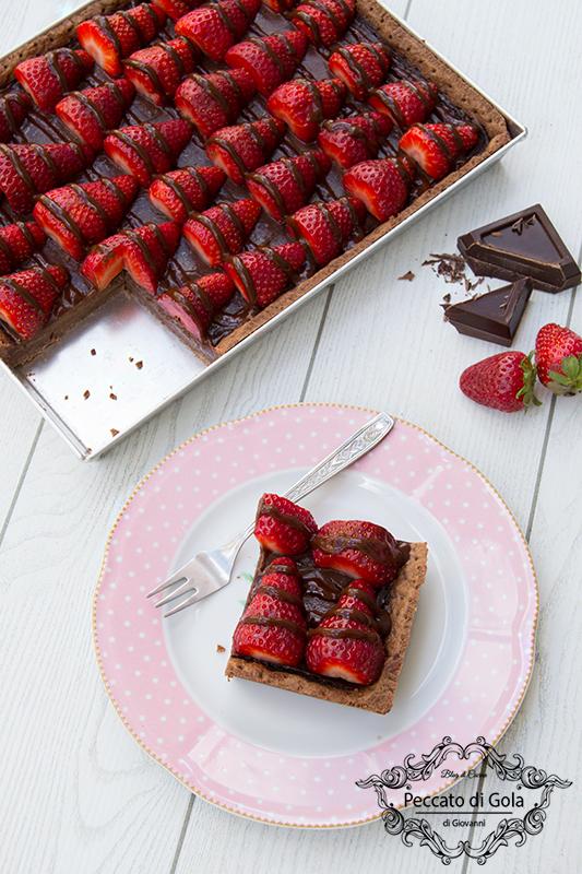 ricetta crostata al cioccolato e fragole, peccato di gola di giovanni 2