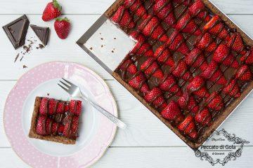 ricetta crostata al cioccolato e fragole, peccato di gola di giovanni