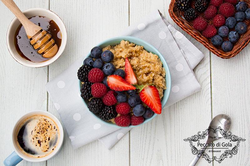 ricetta porridge, peccato di gola di giovanni