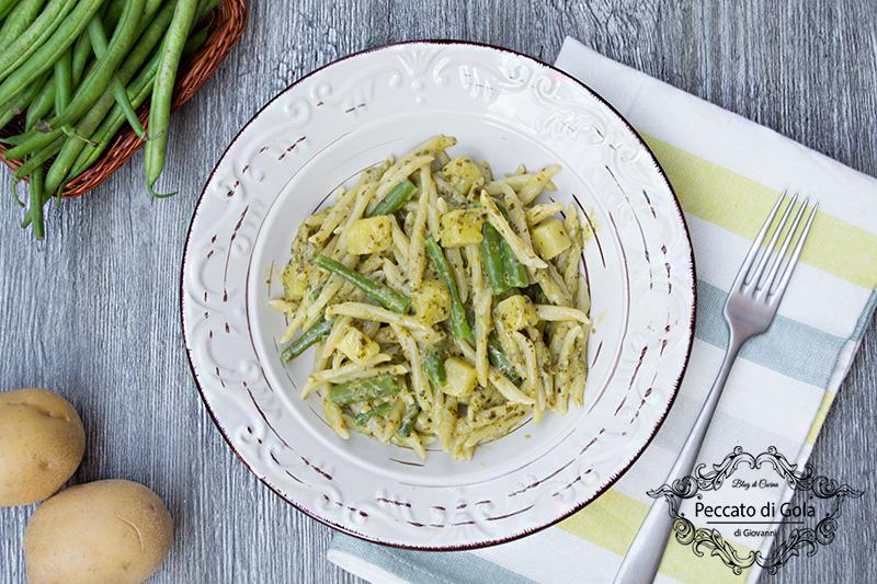 ricetta trofie al pesto con patate e fagiolini, peccato di gola di giovanni