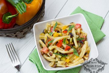 ricetta pasta fredda con caponata di verdure, peccato di gola di giovanni