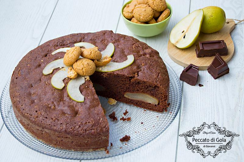 ricetta torta di cioccolato e pere, peccato di gola di giovanni