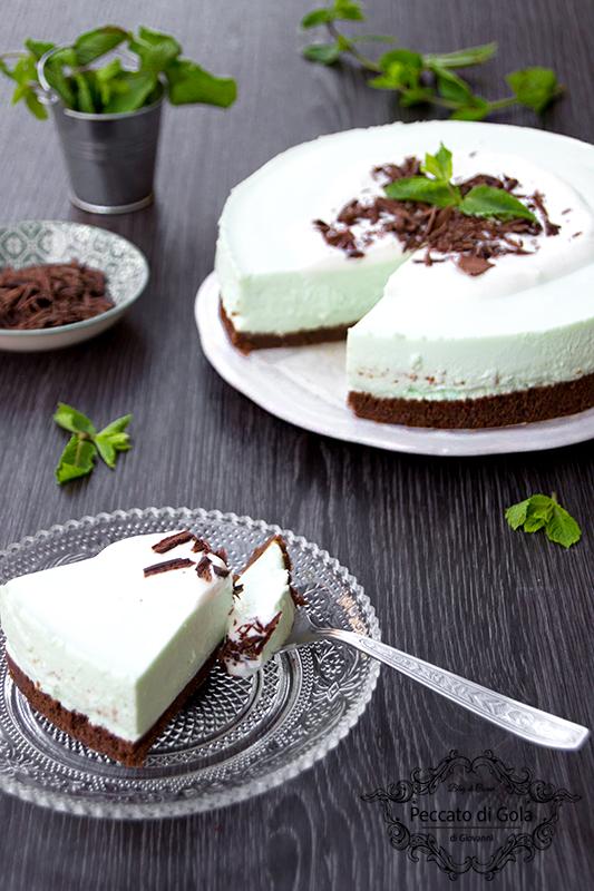 ricetta cheesecake menta e cioccolato, peccato di gola di giovanni 2