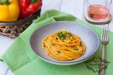 ricetta spaghetti con crema di peperoni, peccato di gola di giovanni
