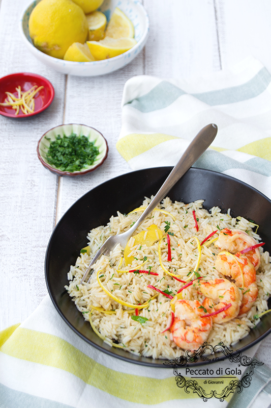 ricetta riso pilaf al limone e gamberi, peccato di gola di giovanni 2