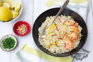 ricetta riso pilaf al limone e gamberi, peccato di gola di giovanni