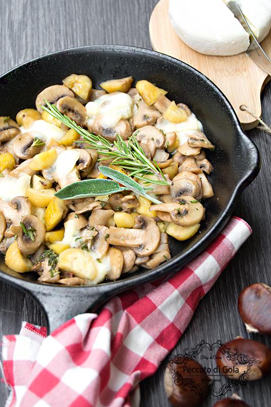 ricetta funghi e castagne con tomino, peccato di gola di giovanni 2
