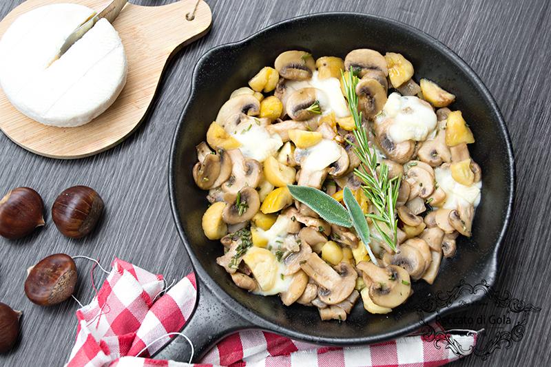 ricetta funghi e castagne con tomino, peccato di gola di giovanni