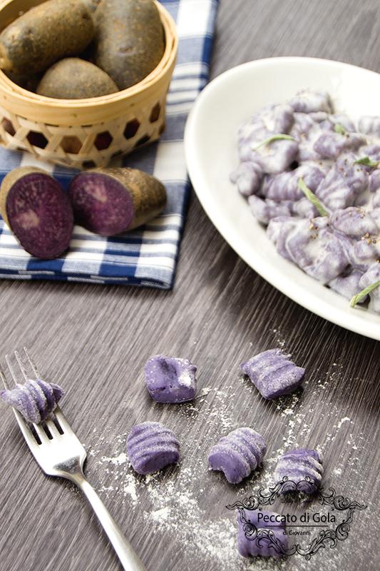 ricetta gnocchi di patate viola, peccato di gola di giovanni 2