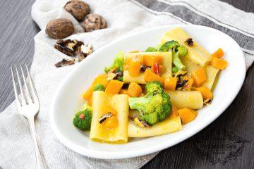 ricetta paccheri con zucca e broccoletti, peccato di gola di giovanni