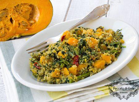 Quinoa con zucca e cavolo nero