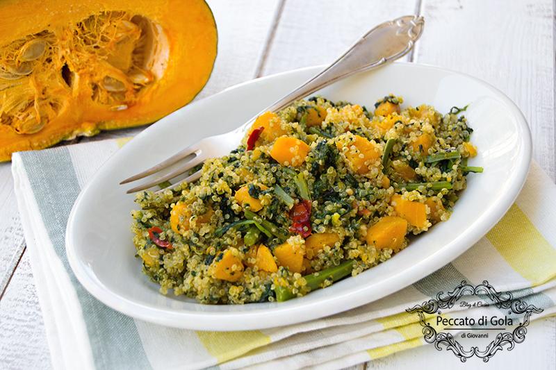 ricetta quinoa con zucca e cavolo nero, peccato di gola di giovanni