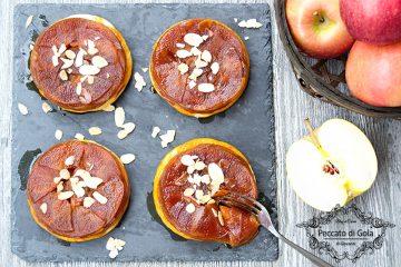 ricetta mini tatin di mele e mandorle, peccato di gola di giovanni